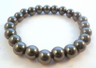 Hematite Bead Stretch Bracelet.